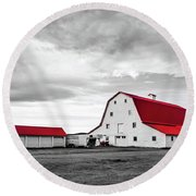 Wyoming Ranch Round Beach Towel by L O C
