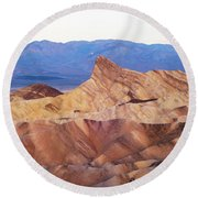 Zabriskie Point Round Beach Towel