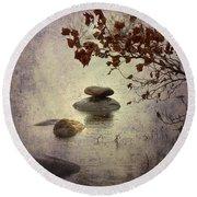 Zen Stones Round Beach Towel