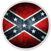 Round Beach Towel featuring the photograph Confederate Flag by Les Cunliffe