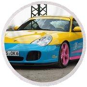2002 Ok Chiptuning Manta Porsche 996 Turbo  1 Round Beach Towel