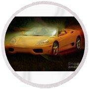 2003 Ferrari 360f1 Round Beach Towel