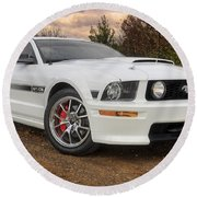 2008 Mustang Gt/cs - California Special - Sunset Round Beach Towel