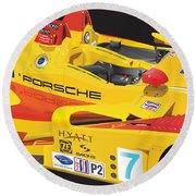 2008 Rs Spyder Illustration Round Beach Towel