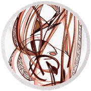 2010 Abstract Drawing Five Round Beach Towel by Lynne Taetzsch