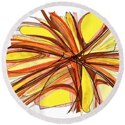 2010 Abstract Drawing Thirteen Round Beach Towel by Lynne Taetzsch