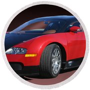 2010 Bugatti Veyron E. B. Sixteen Round Beach Towel by Jack Pumphrey