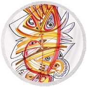 2010 Drawing Three Round Beach Towel