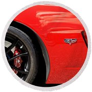 2013 Corvette Round Beach Towel
