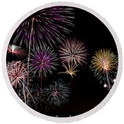 2013 Fireworks Over Alton Round Beach Towel