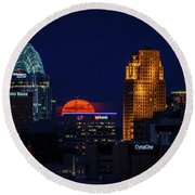 2014 Friday The 13th Honey Moon Rising Round Beach Towel