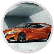 2014 Nissan Sport Sedan Concept 4 Wide Round Beach Towel