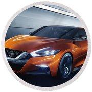 2014 Nissan Sport Sedan Concept Round Beach Towel