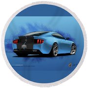 2014 Stang Rear Round Beach Towel