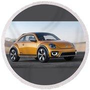 2014 Volkswagen Beetle Dune Concept Round Beach Towel