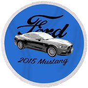 2015 Ford Mustang Round Beach Towel
