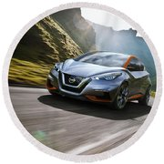 2015 Nissan Sway Concept Wide Round Beach Towel