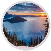 2015 Spring Sunrise From Discovery Point Round Beach Towel