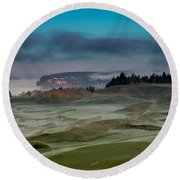 2015 Us Open - Chambers Bay Vi Round Beach Towel by E Faithe Lester