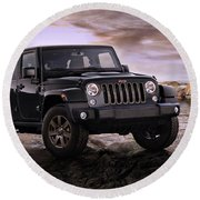 2016 Jeep Wrangler 75th Anniversary Model Round Beach Towel