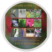 Round Beach Towel featuring the photograph 2017 Nature Calendar by Peg Toliver