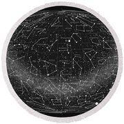 2017 Pi Day Star Chart Hammer Projection Round Beach Towel