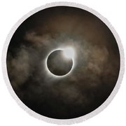 2017 Solar Eclipse Exit Ring Round Beach Towel