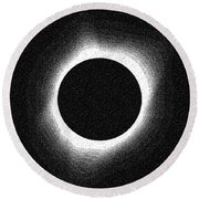 2017 Total Solar Eclipse Round Beach Towel