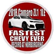 2018 Camaro Zl1 1le Round Beach Towel