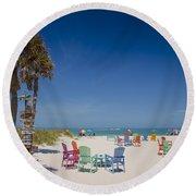 2054 Miles Round Beach Towel