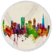 San Francisco City Skyline Round Beach Towel