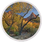 Zion National Park Round Beach Towel