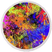 Abstract Composition Round Beach Towel by Samiran Sarkar
