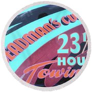23 1/2 Hour Towing Round Beach Towel