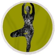 Yoga Collection Round Beach Towel by Marvin Blaine