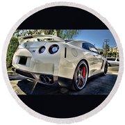 237948 Car Nissan Gt R Round Beach Towel