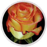 23rd Anniversary Rose Round Beach Towel
