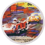 24 Hours Of Le Mans Round Beach Towel