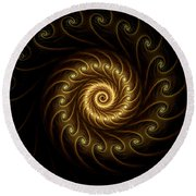 24 Karat Round Beach Towel