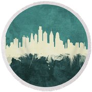 Philadelphia Pennsylvania Skyline Round Beach Towel