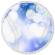 Abstract Circles 45 Round Beach Towel