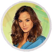 Gal Gadot Art Round Beach Towel by Best Actors