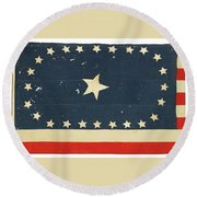 25-star American National Flag Round Beach Towel