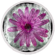 25a Abstract Floral Painting Digital Expressionism Round Beach Towel