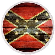 Confederate Flag 2 Round Beach Towel
