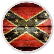 Confederate Flag 2 Round Beach Towel