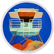 28 South Carlsbad Round Beach Towel