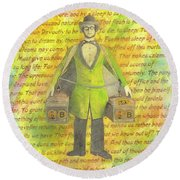 2b Or Not 2b Round Beach Towel by Desiree Paquette