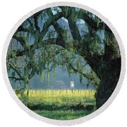 2b6319 Mustard In The Oaks Sonoma Ca Round Beach Towel