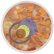 2life Round Beach Towel by Desiree Paquette